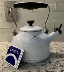 "NEW!  CHANTAL   ""Vintage""   WHISTLING TEA KETTLE  1.7 Qt  WH"
