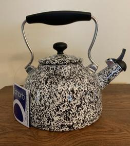 "NEW! CHANTAL ""Vintage"" WHISTLING TEA KETTLE 1.7 Qt BLACK / W"