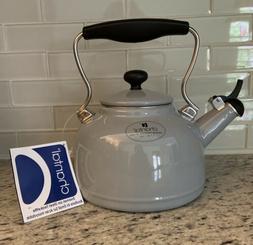 """NEW!  CHANTAL   """"Vintage""""   WHISTLING TEA KETTLE  1.7 Qt  GR"""