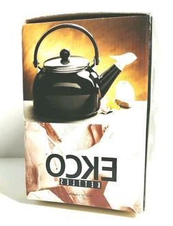 New Ekco Whistling Tea Kettle Sierra Black 2qt. New in Box T
