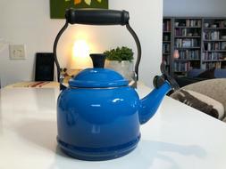 NIB Le Creuset 1.2 QT Demi whistling Kettle Teapot Marseille