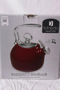 NIB Chantal Whistling Tea Kettle, Royal Red Anniversary Kett