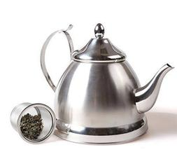 Creative Home Nobili-Tea 1.0 Qt-Stainless Steel Kettle with