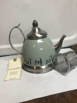 Creative Home Nobili Tea Stainless Steel Tea Kettle Sage Col