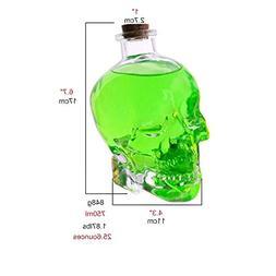 ✅Skull Bottle for Christmas Party,Skull Decanter, Creative