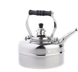 Old Dutch Stainless Steel Windsor Whistling Teakettle 3 Qt.