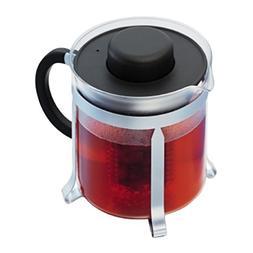 Bodum Oolong  Medium Tea Pot, Black Plastic Lid and Stainles