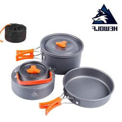 Outdoor Camping <font><b>Cookware</b></font> Pot Frying Pans