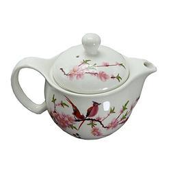 Peach Blossom Stylish Ceramic Teapot With Tea Infuser Tea Ke