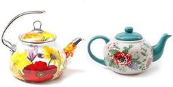 The Pioneer Woman Country Garden Teapot Bundle with Flower G