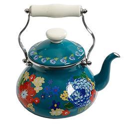 The Pioneer Woman Floral Dazzling Dahlias 2-Quart Tea Kettle