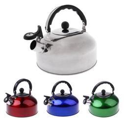 Portable 4L 5L Whistle Kettle Water Tea Pot Camping Caravan
