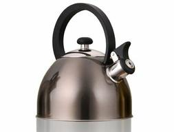 Prelude Metallic Smoke 2.1 Quart Whistling Tea Kettle