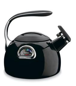 Cuisinart PTK-330BK PerfecTemp Porcelain Enameled Teakettle,