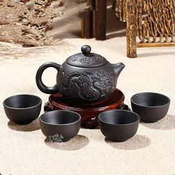 Purple Clay Kung Fu Teapot 150ml Chinese Porcelain Yixing Zi