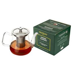 VAHDAM 'S RADIANCE GLASS TEAPOT WITH INFUSER, 33oz/1000ML,