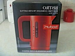 Bodum Red Electric Cordless Water Kettle  NIB