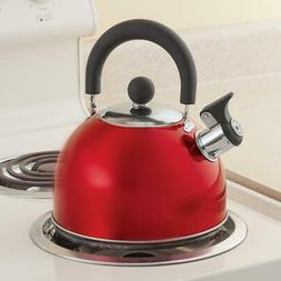 Red Whistling Tea Kettle by Home-Style Kitchen