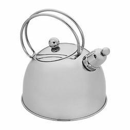 Demeyere Resto 2.6-qt Stainless Steel Whistling Tea Kettle