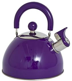 Lifetime Cooking Retro Style 2.5L Whistling Kettle Stainless
