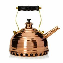 Richmond Beehive Copper Whistling Tea Kettle for Gas Stoveto
