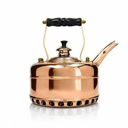 Richmond Heritage Copper Whistling Tea Kettle for Gas Stovet