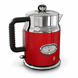 Russell Hobbs Retro Style 1.7L Electric Kettle, Red Stainles
