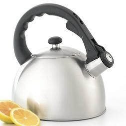 Creative Home Satin Splendor 2.8 qt. Whistling Tea Kettle