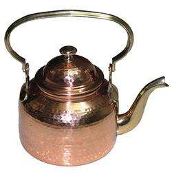 PARIJAT HANDICRAFT Solid Copper Hammered Tea Kettle Classic