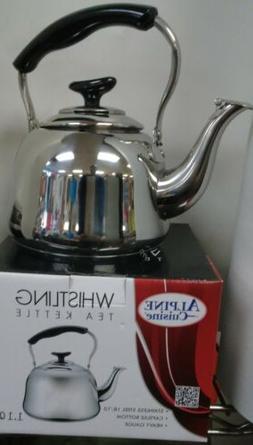 Stainless Steel 18/10 Tea Pot Whistling Tea Kettle. Capsule