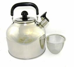 Stainless Steel Large 6.3 Liter 7 Quart Whistling Tea kettle