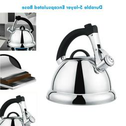 Stainless Steel Audible Teapot Whisting Tea Kettle Stovetop