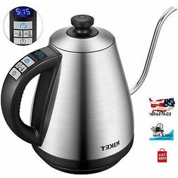stainless steel cordless electric gooseneck tea kettle
