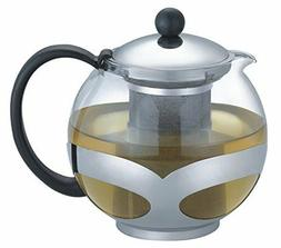 Uniware 750ml Stainless Steel Glass Teapot with Filter A1003