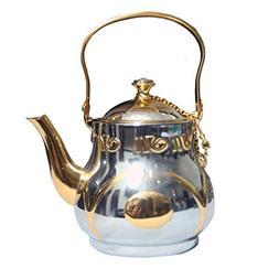 Kuber Industries Stainless steel Italian Gold finish/Tea Pot