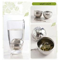 Stainless Steel Kettles Tea Sphere Locking Spice Egg Shape B