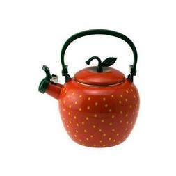 Supreme Housewares Stainless Steel Strawberry Whistling Tea