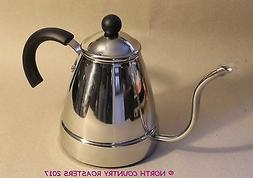 Stainless Steel Tea Coffee Kettle Gooseneck Thin Spout on Ga