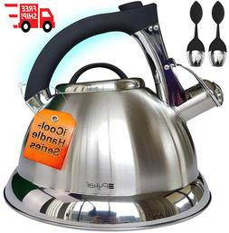 Stainless Steel Tea Kettle 2 Free Infusers Included 3 Quart