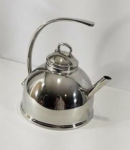 Mauviel Stainless Steel Tea Kettle 3 Quart France NEW