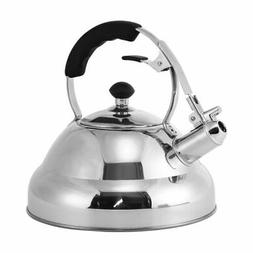 Stainless Steel Tea Kettle - Stovetop Whistling Tea Pot for