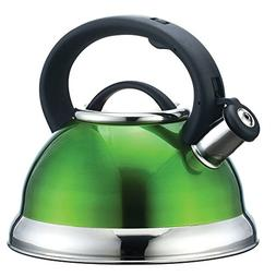 Alpine Cuisine 2.8L Stainless Steel Tea Kettle in Green