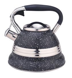 Stainless Steel Teakettle Stovetop Whistling Tea Kettle 3.4Q