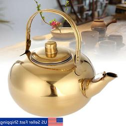Stainless Steel Teapot Coffee Pot with Tea Leaf Infuser Filt