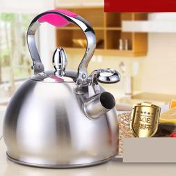 Stainless Steel Whistling Ketle Coffee Tea Pot Stovetop Cook