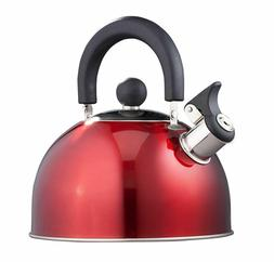Stainless Steel Whistling Kettle 2.5qt/2.37l Hot Water Tea S