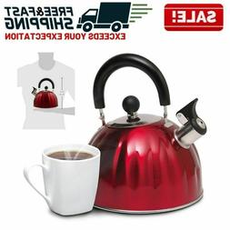 Stainless Steel Whistling Kettle Stovetop Teapot Water Boile