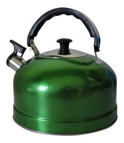 Stainless Steel Whistling Kettle Hot Water Tea Stovetop Dark