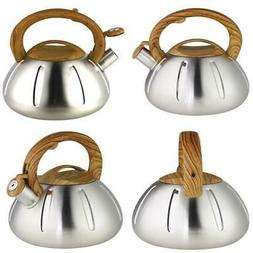 Riwendell Stainless Steel Whistling Tea Kettle 2.6-Quart Sto