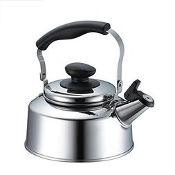 Stainless Steel Whistling Tea Kettle 1.7L / 57oz, Gas Electr